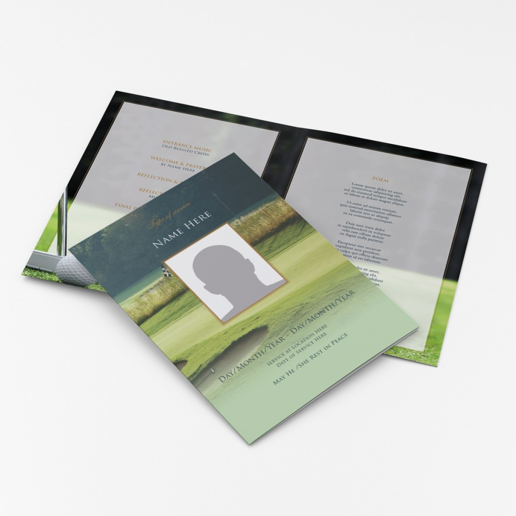 golf-order-of-service-funeral