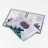 crocus funeral cards and personalised stationery